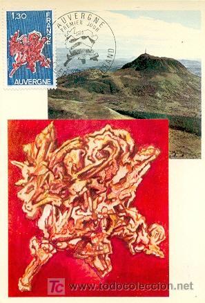FRANCIA, AUVERGNE. TARJETA MAXIMA CON MATASELLO DEL 4-10-1975 (Sellos - Extranjero - Tarjetas Máximas)