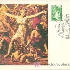 Sellos: FRANCIA, LA SABINE, TARJETA MÁXIMA DE PRIMER DÍA DEL 17-12-1977. Lote 5348427