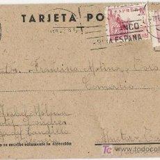 Sellos: TARJETA POSTAL CIRCULADA. 1942.. Lote 5518580