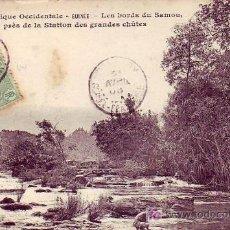 Sellos: GUINEA: PRECIOSA TARJETA POSTAL CIRCULADA 20.04.1908 DE CONAKRY A FRANCIA. VER MATASELLOS.. Lote 21805241
