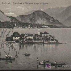 Sellos: ISOLA DEL PESCATORI E BAVENA (LAGO MAGGIORE). SUIZA. 1909. CIRCULADA CON SELLO DE HELVETIA. Lote 12846575