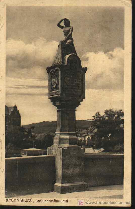 REGENSBURG. BRUÜCKENMÄNNLEIN. BAVIERA - GERMANY - ALEMANIA 1919 SELLO BAYERN (Sellos - Extranjero - Tarjetas)