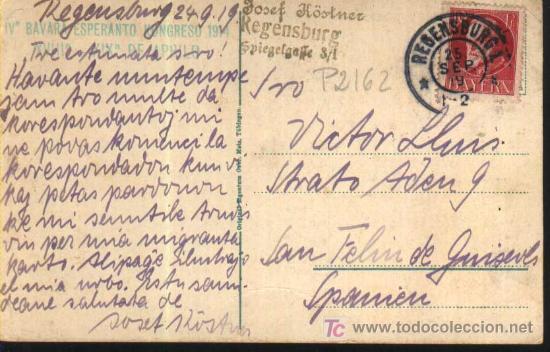 Sellos: REGENSBURG. Bruückenmännlein. BAVIERA - GERMANY - ALEMANIA 1919 sello BAYERN - Foto 2 - 19361040