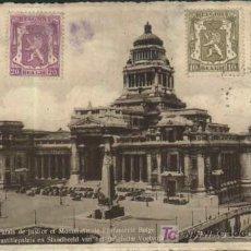 Sellos: BRUXELLES. PALAIX DE JUSTICE ET MONUMENT DE L'INFANTERIE BELGE. BRUSELAS - BELGICA. 1917. Lote 19361041