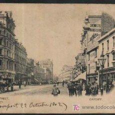 Sellos: ST.MARY STREET. CARDIFF. GRAN BRETAÑA - GREAT BRITAIN 1902 ESCRITA Y CIRCULADA CON SELLO. Lote 24835212