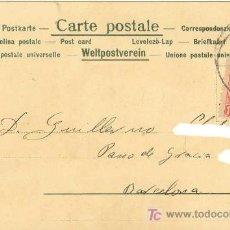 Sellos: POSTAL DEL 1901 CON SELLO DE ALFONSO XIII CADETE - EDIFIL 243 - POSTAL COLOREADA OBRA TEATRO . Lote 20318271