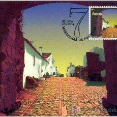 Sellos: PORTUGAL 2007.- TARJETA MAXIMA.- MARAVILLAS DE PORTUGAL.- FORTIFICAIONES DE MONSARAZ. Lote 5793027