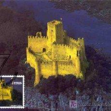 Sellos: PORTUGAL 2007.- TARJETA MAXIMA.- MARAVILLAS DE PORTUGAL. CASTILLO DE ALMOUROL. Lote 5793048