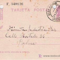 Sellos: TARJETA POSTAL DE MANACOR A PALMA. Lote 26500216