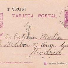 Sellos: TARJETA POSTAL DE BOLAÑOS (CIUDAD REAL) A MADRID.. Lote 27154553