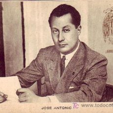 Sellos: BONITA TARJETA PATRIOTICA NUEVA JOSE ANTONIO PRIMO DE RIVERA (FOTO MARIN). VER FRANQUEO REVERSO. MPM. Lote 21824808