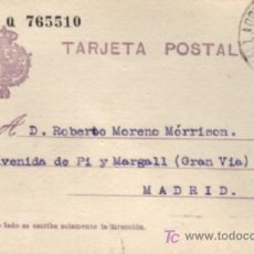 Sellos: TARJETA POSTAL ALFONSO XIII TIPO BÉCQUER 1928. Lote 22940976