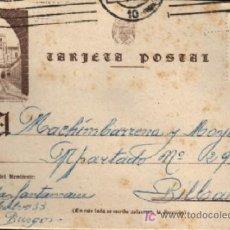 Sellos: TARJETA POSTAL HUELGAS BURGOS 1953. Lote 22338821