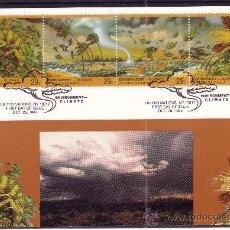 Sellos: NACIONES UNIDAS NEW YORK 645/48 - AÑO 1993 - CAMBIO CLIMÁTICO - FAUNA - FLORA. Lote 8284705