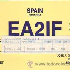 Sellos: TARJETA UNION RADIOAFICIONADOS ESPAÑOLES E A 2 I F DE PAMPLONA (NAVARRA). BONITA Y RARA ASI. MPM.. Lote 15772099