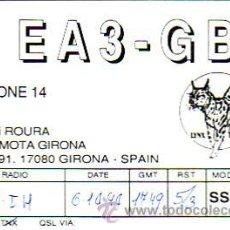 Sellos: TARJETA UNION RADIOAFICIONADOS ESPAÑOLES E A 3 G B U DE GIRONA. BONITA Y RARA ASI. MPM.. Lote 15807417