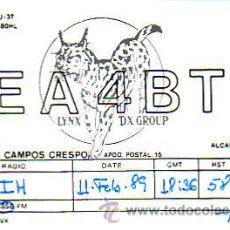 Sellos: TARJETA UNION RADIOAFICIONADOS ESPAÑOLES E A 4 B T DE ALCALA DE HENARES (MADRID). BONITA Y RARA. MPM. Lote 15840658