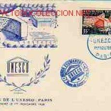 Sellos: TARJETA POSTAL UNESCO PARIS 1958. Lote 3352185