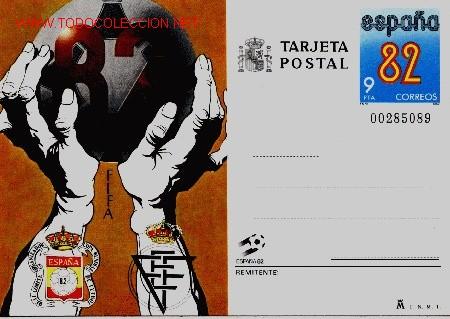 TARJETA POSTAL 9 PESETES MUNDIAL FUTBOL ESPAÑA 82 (Sellos - España - Tarjetas)