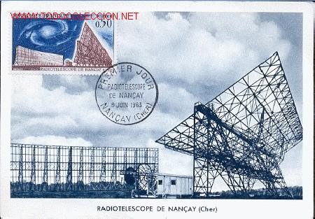 FRANCIA, RADIOTELESCOPIO DE NANÇAY (Sellos - Extranjero - Tarjetas Máximas)