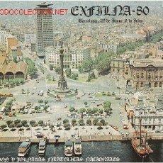 Selos: GRAN OCASION MAGNIFICO LOTE DE 4 TARJETAS RECUERDO DE LA EXFILNA DE 1980. Lote 2825876