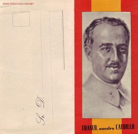 GENERAL FRANCO BONITA Y RARA CARTA PATRIOTICA SIN UTILIZAR. MPM. (Sellos - España - Tarjetas)