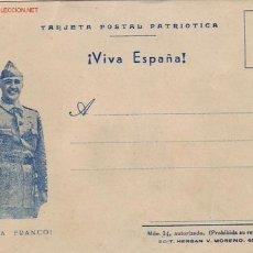 Sellos: TARJETA POSTAL PATRIOTICA GENERAL FRANCO: ¡VIVA ESPAÑA! ¡VIVA FRANCO!. Lote 16053214