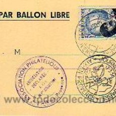 Sellos: TARJETA COMERCIAL FRANCESA PAR BALLON LIBRE 1931. Lote 3024052