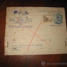 Sellos: TARJETA POSTAL LA FLORIDA ALMACEN DE PERFUMERIA BARCELONA -GIJON1948. Lote 9760954