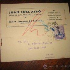 Sellos: TARJETA POSTAL JUAN COLL ALBO GERONA-GIJON 1941. Lote 9761098