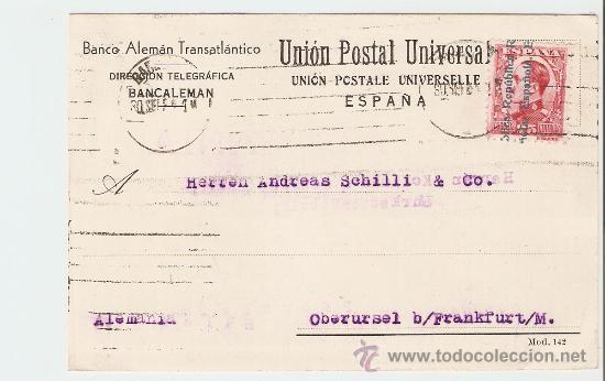 TARJETA COMERCIAL BARCELONA - ALEMANIA 1931 (Sellos - España - Tarjetas)