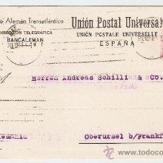 Sellos: TARJETA COMERCIAL BARCELONA - ALEMANIA 1931. Lote 13796122