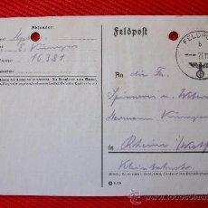 Sellos: TARJETA POSTAL ALEMANA - FELDPOST 1939. Lote 9969358