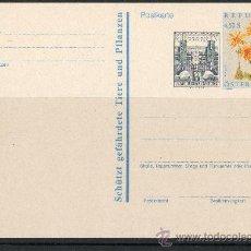 Sellos: AUSTRIA AÑO 1992 - 2 TARJETAS ENTERO POSTAL - FLORA - NATURALEZA - ARQUITECTURA. Lote 10118022