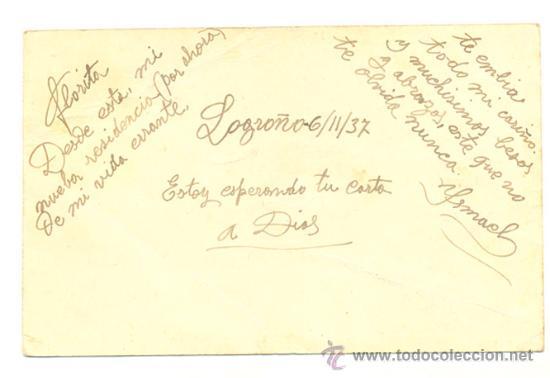 Sellos: Tarjeta postal 1937 .. 8Ff 15c. violeta + 15 c. negro Isabel la Católica (ed 120) ..Censura militar - Foto 2 - 17789015