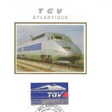 Sellos: FRANCIA. FERROCARRILES. TGV ATLANTICO.. Lote 10341018