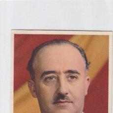 Sellos: GENERAL FRANCO EN TARJETA CON SU FIRMA CIRCULADA 1939 MATASELLOS FLECHAS DE BURGOS CORREO AEREO. Lote 27563356