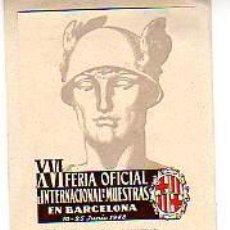 Sellos: TARJETA DIPTICA DE JOSE Mº GOMIS-TABERNES BLAQUES-VALENCIA-. Lote 11554358