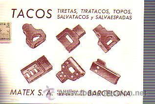 TARJETA COMERCIAL DE MATEX,SA DE BARCELONA -TEXTIL-CIRCULADA (Sellos - España - Tarjetas)