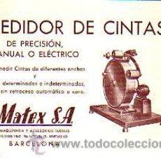 Sellos: TARJETA COMERCIAL DE MATEX,SA DE BARCELONA -TEXTIL-MEDIDOR DE CINTAS-CIRCULADA. Lote 12455965