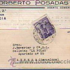 Sellos: TARJETA COMERCIAL DE NORBERTO POSADAS-DE VALENCIA-AGENTE COMERCIAL. Lote 12902730