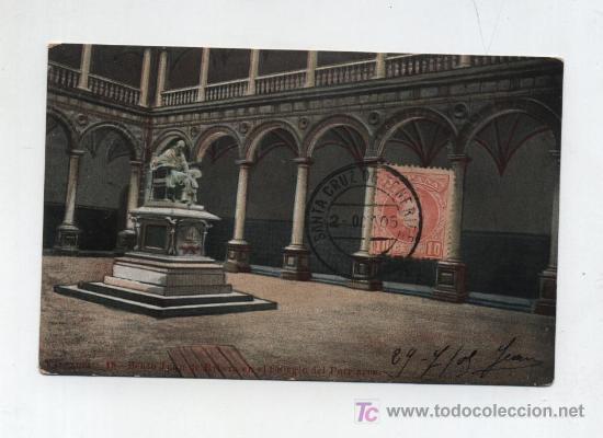 TARJETA POSTAL DE SANTA CRUZ DE TENERIFE A NIZA (FRANCIA) FRANQUEADA CON SELLO Nº 243 (Sellos - España - Tarjetas)