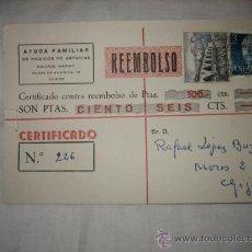 Sellos: TARJETA POSTAL CIRCULADA 1966 . Lote 13194568