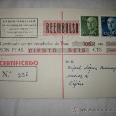 Sellos: TARJETA POSTAL CIRCULADA 1966 . Lote 13194634