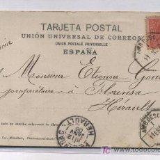 Sellos: TARJETA POSTAL DIRIGIDA A HERAULT (FRANCIA) FRANQUEADA CON EL SELLO Nº 243. Lote 18362922