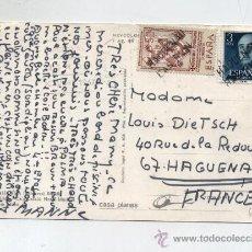 Sellos: TARJETA POSTAL DE PALMA A FRANCIA FRANQUEADA CON EL SELLO Nº 1159 Y 1051. Lote 13717757