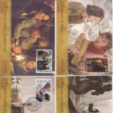 Sellos: NUEVA ZELANDA 2005. CINE. LAS CRONICAS DE NARNIA. EL LEON, LA BRUJA Y EL ARMARIO. TARJETAS MAXIMAS. Lote 14185382
