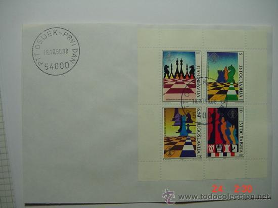 9862 AJEDREZ CHESS YUGOSLAVIA - AÑO 1990 - MIRA MAS DE ESTE TEMA EN MI TIENDA C&C (Sellos - Extranjero - Tarjetas Máximas)