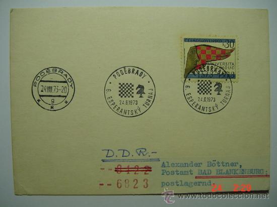 9852 AJEDREZ CHESS CHECOESLOVAQUIA - AÑO 1973 - MIRA MAS DE ESTE TEMA EN MI TIENDA C&C (Sellos - Extranjero - Tarjetas Máximas)