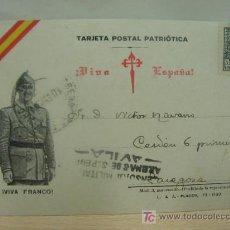 Sellos: TARJETA POSTAL PATRIOTICA, GUERRA CIVIL , AÑO 1937, CENSURA MILITAR, ARENAS DE SAN PEDRO, AVILA.. Lote 23365069